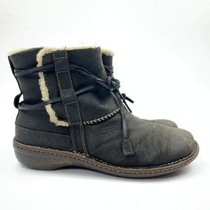 Ugg Black Cove Shearling Winer Boots Womens Sz 12